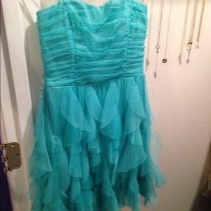 TeezeMe Macy's strapless short formal dress